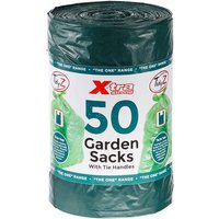 Tidy Z 50L Tie Handle Green Garden Bags - 40 Pack