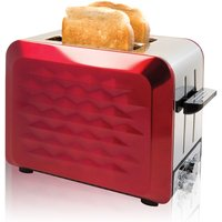 Buy Quest Stainless Steel 2-Slice Diamond Toaster with Bagel Function - Red - Robert Dyas