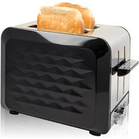 Buy Quest Stainless Steel 2-Slice Diamond Toaster with Bagel Function - Black - Robert Dyas