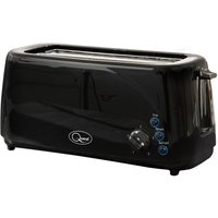 Buy Quest 4-Slice Wide-Slot Toaster - Black - Robert Dyas