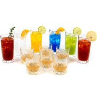 RCR Fire Crystal Hi-Ball Glasses and Whisky Tumblers - Set of 12