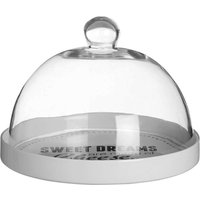 Premier Housewares Pun and Games Cheese Board with Glass Dome