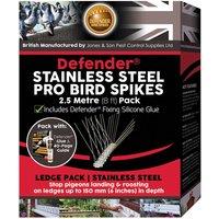 Defenders Defender 2.5m Stainless Steel Pro Bird Spikes Deterrent