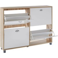 St Ives 4 Drawer Shoe Cupboard - White