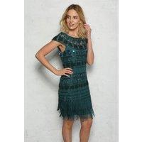 Green Fringed Flapper Dress