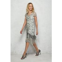 Silver Fringed Flapper Dress