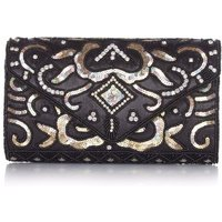 Black And Gold Beaded Clutch