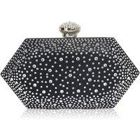 Black Crystal Art Deco Clutch