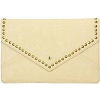 Cream Studded Clutch Bag
