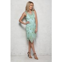 Mint Green Beaded Flapper Dress