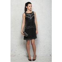 Black Deco Flapper Dress