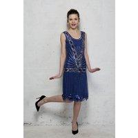 Frock And Frill Zelda Flapper Dress - Blue