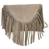 Grey Tassel Shoulder Bag