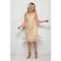 Blush Fringed Flapper Dress