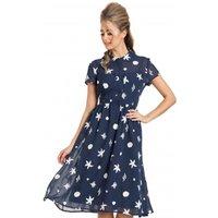 Seaside Print Tea Dress