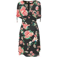 Knotted Floral Tea Dress
