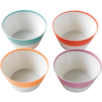 1815 Bright Colors Cereal Bowl 4-Piece By Royal Doulton | Ceramic | 6 in W x 5.9 in L