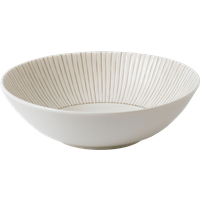 Taupe Stripe Cereal Bowl By Royal Doulton | Ceramic | 7.9 in W x 7.9 in L x 2.3 in H