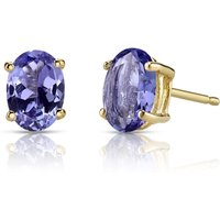 Tanzanite Stud Earrings in 9ct Gold