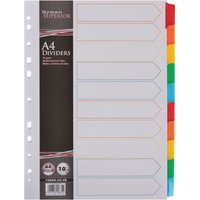 Ryman Index A4 10 Part Pack of 20 Multi, Multi