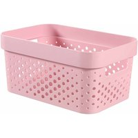 Curver Infinity Storage Basket 4.5 Litre, Pink