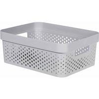 Curver Infinity Storage Basket 11 Litre, Grey