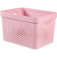 Curver Infinity Storage Basket 17 Litre, Pink