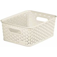 Curver My Style Storage Basket 8 Litres, Cream