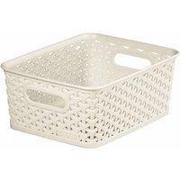 Curver My Style Storage Basket Medium 13 Litres, Cream