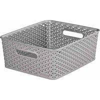Curver My Style Storage Basket Medium 13 Litres, Grey