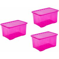 Click to view product details and reviews for Wham Crystal Boxes 60 Litres Pack Of 3 Pink.