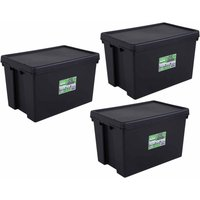Click to view product details and reviews for Wham Bam Recycled Storage Boxes 62 Litre Pack Of 3 Black.