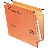 Image of Rexel Crystalfile Classic 330 Lateral Suspension File 15mm Pack of 50, Orange