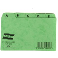 Europa A to Z Index Cards 126x76mm, Assorted