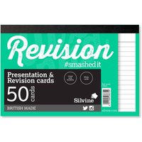 Silvine Revision and Presentation Notecards Ruled Pack of 50, White