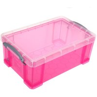 Really Useful Storage Box 9 Litre, Bright Pink at Ryman Stationery