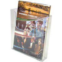 Image of Deflecto Flat Back Literature Holder Free Standing/Wall Mountd A4