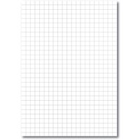 A4 Loose Leaf Paper 10mm Square Ruled, Un Pched Ream