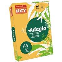 Adagio Ream of Bright Coloured Copier Paper A4 80gsm 500 Sheets, Gold