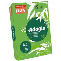 Adagio Ream of Bright Coloured Copier Paper A4 80gsm 500 Sheets, Deep Green
