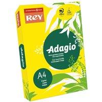 Adagio Ream of Bright Coloured Copier Paper A4 80gsm 500 Sheets, Yellow