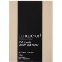 Conqueror Paper A4 100gsm Pack 100, Vellum at Ryman Stationery