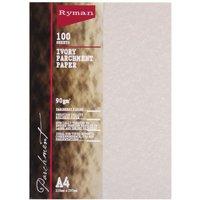 Ryman Parchment Paper A4 90gsm 100 Sheets, Ivory
