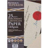Ryman Certificate Paper A4 Pack of 250 Cream, Cream