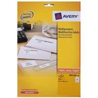 Avery Multi Purpose Labels 63.5x38.1mm 21 per Sheet 40 Sheets, White