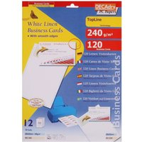 Decadry Laid Business Cards Clean Edge Pack of 120, White