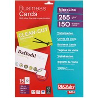 Decadry Micro-perforated Business Cards Pack of 150, white