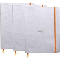 Rhodiarama B5 Ruled Notebook, Silver