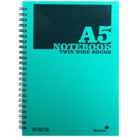 Click to view product details and reviews for Silvine Twinwire Notebooks A5 Ruled 75gsm 160 Pages 80 Sheets Green.
