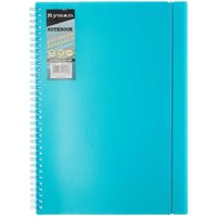Ryman Colour Brights Polypropylene Notebook A4, Turquoise